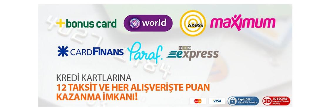 Kredi kartı taksit imkanı
